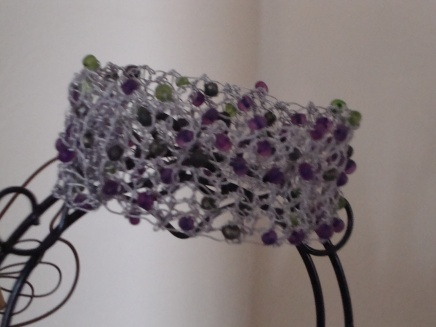 Purple/green cuff bracelet