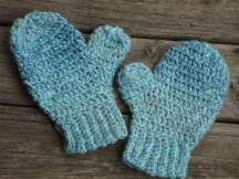 Sea Blue Mittens