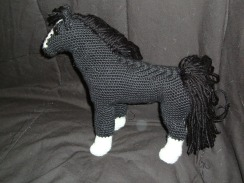Detailed image of black horse