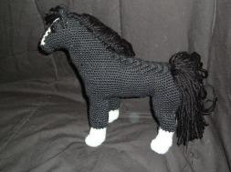 Detailed image of black horse