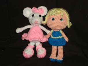 Christina the Ballerina Mouse & Blond Girl